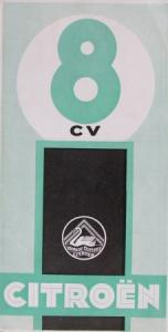 Citroen 8 CV Modellprogramm 1933 Automobilprospekt