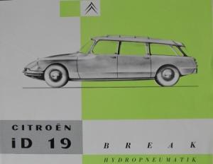 Citroen ID 19 Break Hydropneumatik 1958 Automobiprospekt