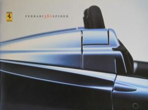 Ferrari 360 Spider 2000 Automobilprospekt