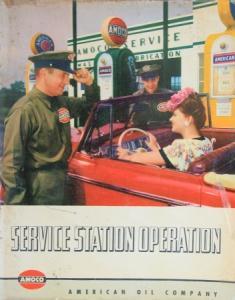 "AMOCO American Oil Company ""Service Station Operation"" Imagebrochure 1948"