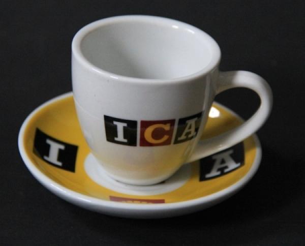 """Shell """"ICA Super Shell"""" Kaffeetassen-Set 1965"""