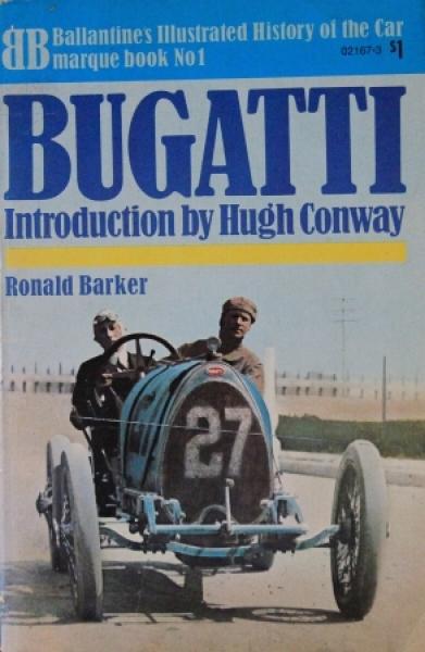 "Barker ""Bugatti - Illustrated History"" Fahrzeughistorie 1971"