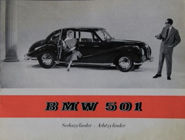 BMW 501 Modellprogramm 1955 Automobilprospekt