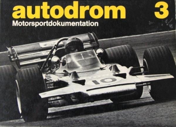"""Morenno """"Autodrom Motorsportdokumentation"""" Band 3 Motorrennsport 1971"""