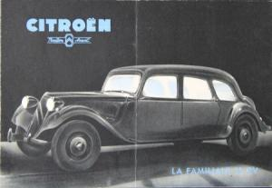 Citroen Traction Avant La Familiale 11 CV 1954 Automobilprospekt
