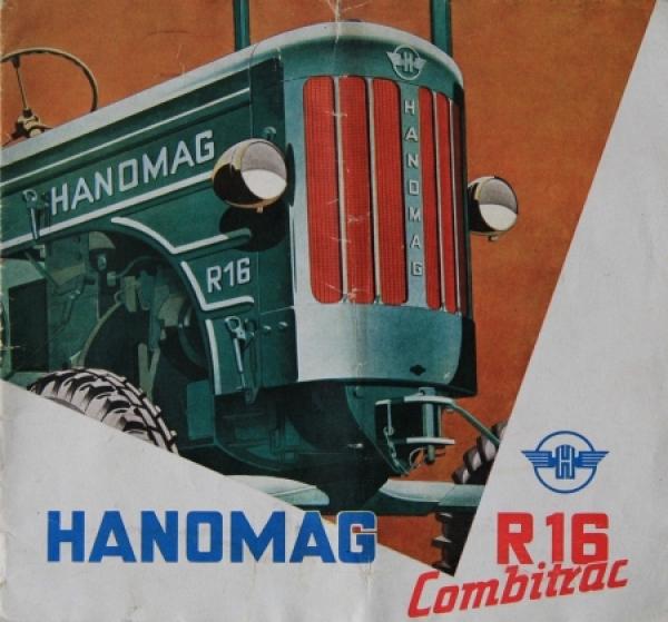 Hanomag R 16 Combitrace 1953 Traktorprospekt