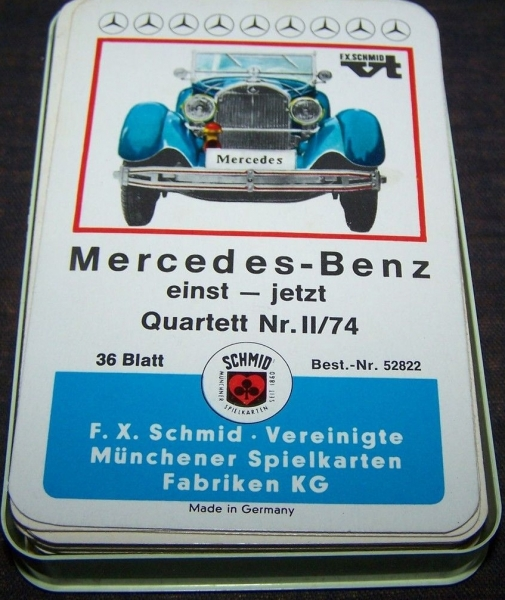 """Schmid Spiele """"Mercedes Benz einst - jetzt"""" 1967 Kartenspiel"""