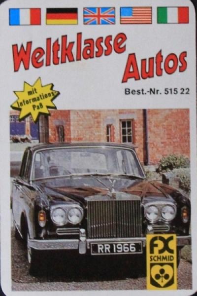 """Schmid Spiele """"Weltklasse Autos"""" 1973 Kartenspiel"""