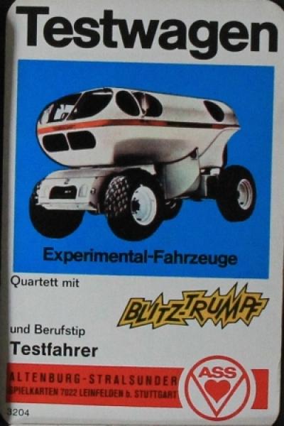 """Altenburger """"Testwagen - Experimental-Fahrzeuge """" Kartenspiel 1967"""