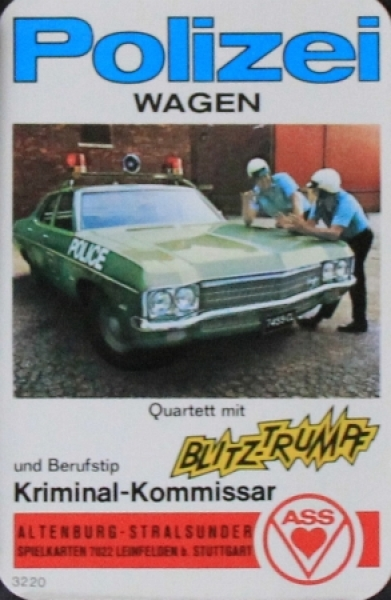"Altenburger ""Polizeiwagen"" Kartenspiel 1969"
