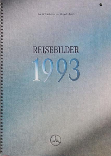 """Mercedes Benz Werbe-Jahreskalender Personenwagen """"Reisebilder"""" 1993"""