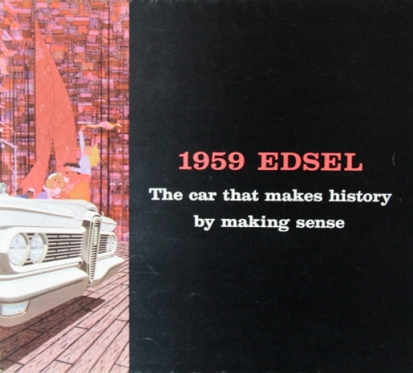 "Ford Edsel ""The car that makes history"" 1959 Automobilprospekt"