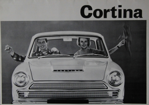 Ford Cortina Modellprogramm 1963 Automobilprospekt