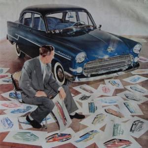 Opel Kapitän Modellprogramm 1956 Automobilprospekt