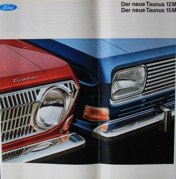 "Ford Taunus 12/15M ""Der neue Taunus"" 1966 Automobilprospekt"