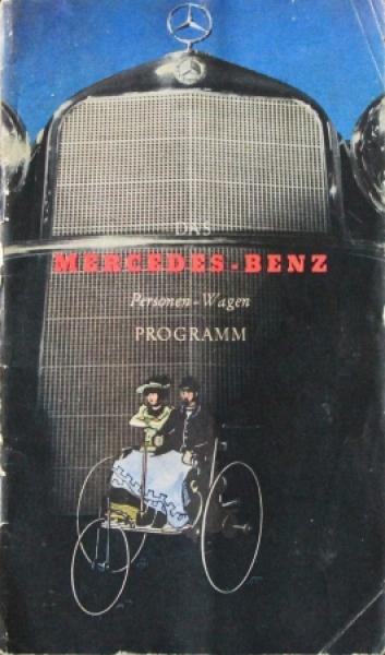 "Mercedes Benz ""Personen-Wagen Programm"" 1936 Automobilprospekt"