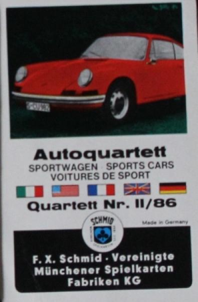 """Schmid-Spiele """"Autoquartett - Sportwagen"""" Kartenspiel 1965"""