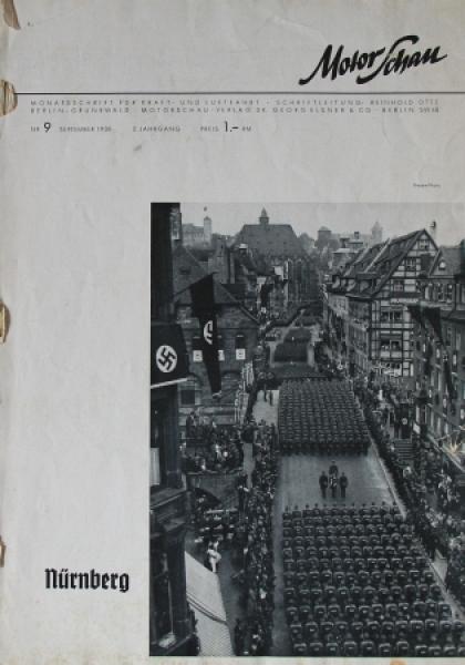 """Motor Schau"" Automobil-Magazin September 1938"