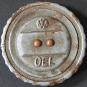 Volkswagen Käfer Oel-Schraubverschluss Metall mit Dichtung 1955