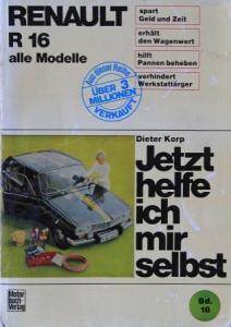 """Korp """"Renault R 16 - Jetzt helfe ich mir selbst"""" Reparaturhandbuch 1968"""