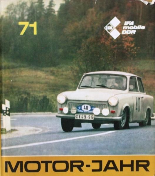 """""""Motor Jahr 71 - Eine internationale Revue"""" Automobil-Jahrbuch 1971"""