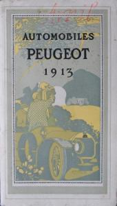 Peugeot Automobiles Modellprogramm 1913 Automobilprospekt
