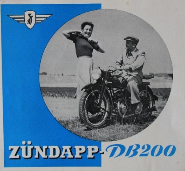 z ndapp db 200 modellprogramm 1939 motorradprospekt nr. Black Bedroom Furniture Sets. Home Design Ideas