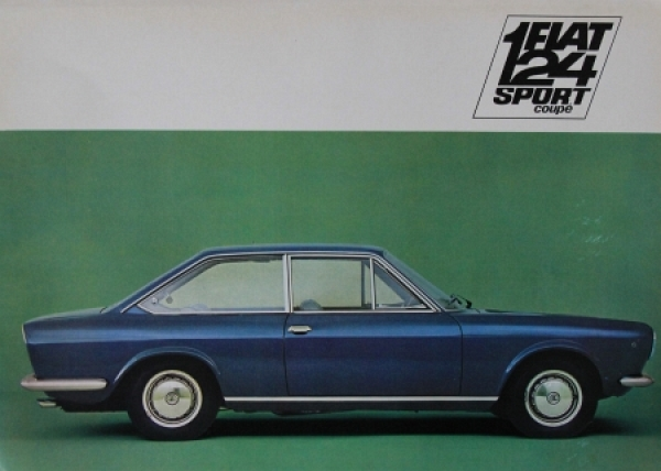 Fiat 124 Sport Coupe 1969 Automobilprospekt