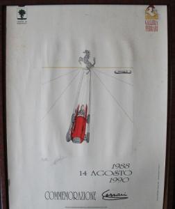 """Galleria Ferrari Vezzali-Poster """"Commemorazione"""" siginiert und nummeriert 1990"""