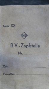 """BV Aral Zapfstellen-Quittungsblock """"Serie XX"""" 1935"""
