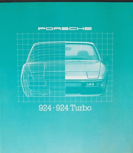 Porsche 924 Turbo Modellprogramm 1980 Automobilprospekt