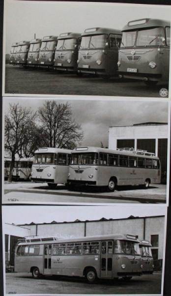 """Krauss-Maffei Busse """"Deutsche Post"""" 3 Werks-Photos 1956"""