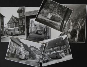 Büssing-NAG Bus auf Reisen durch Deutschland 6 Originalphotos 1955