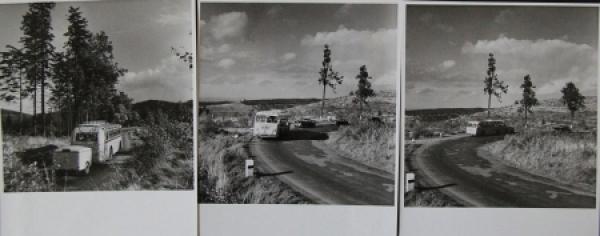 Büssing-NAG Bus auf Reisen durch Südfrankreich 3 Originalphotos 1955