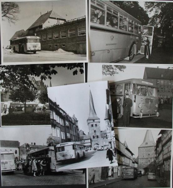 Büssing-NAG Bus auf Reisen durch Deutschland 7 Originalphotos 1955