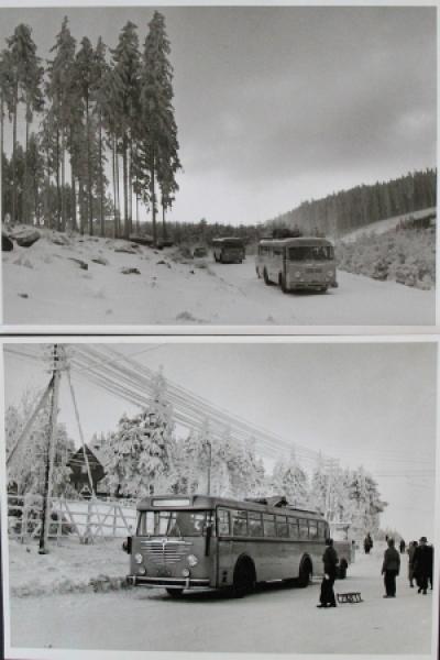 Büssing-NAG Bus auf Reisen durch den Harz 2 Werksphotos 1955 0