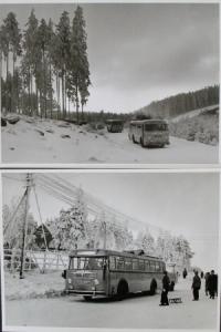 Büssing-NAG Bus auf Reisen durch den Harz 2 Werksphotos 1955