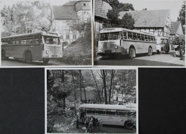 Büssing-NAG Bus auf Reisen durch Deutschland 3 Originalphoto 1955