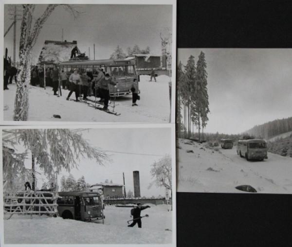 Büssing-NAG Bus 6000 T im winterlichen Harz 3 Werksphotos 1955
