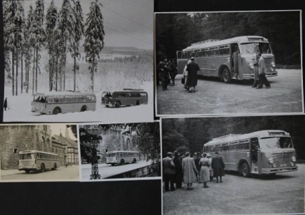 Büssing-NAG Bus auf Reisen durch Deutschland 5 Originalphotos 1955