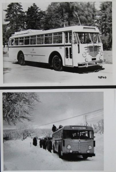Büssing-NAG Bus Typ 6000 T im Siebertal 2 Werksphotos 1951