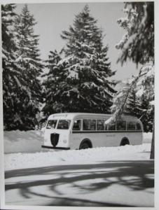 Büssing-NAG 5000 T im winterlichen Harz Werksphoto 1949