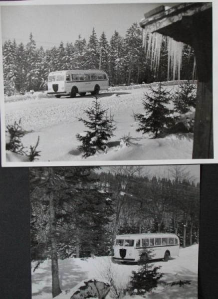 Büssing-NAG Bus Typ 5000 T im Harz 2 Werksphotos 1949
