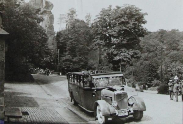Henschel Bus 125 PS auf Ausflugsfahrt Originalphoto 1930