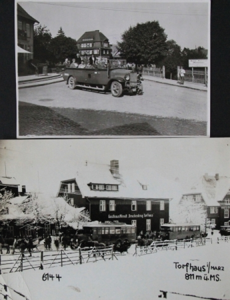 Büssing-NAG Bus am Torfhaus im Harz 2 Werks-Photo 1928