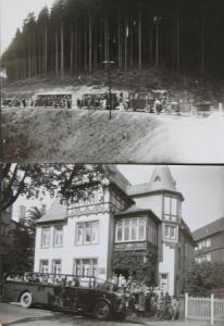 """Büssing-NAG """"Kraftpost"""" Ausflugswagen in den Oberharz 2 Originalphotos 1930"""