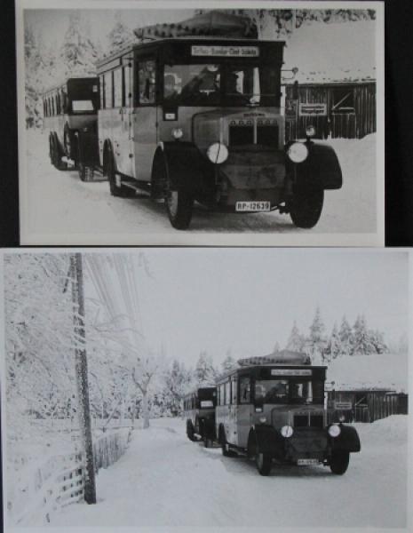 """Büssing-NAG """"Reichspost"""" Ausflugswagen im Oberharz 2 Originalphotos 1928"""