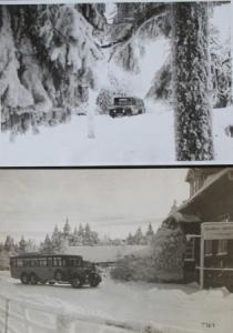 Büssing-NAG Bus Doppelachser im winterlichen Harz 2 Originalphotos 1928