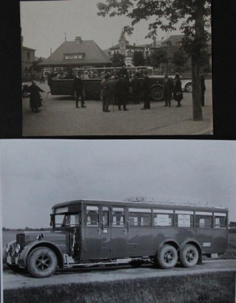 Büssing-NAG Bus auf Reisen 2 Originalphotos 1926