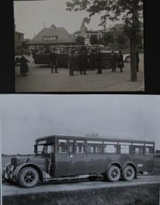 Büssing-NAG Bus auf Reisen 2 Originalphotos 1926